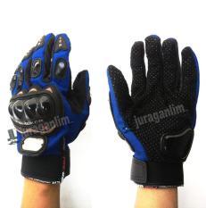 Sarung tangan PRO BIKER - BLUE FULL PROTECTOR & BATOK [ MURAH & ORI ]