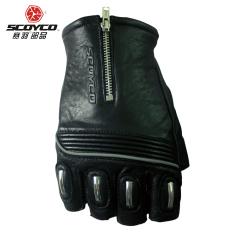 Scoyco KNIGHT pria dan wanita setengah jari musim panas sarung tangan motor