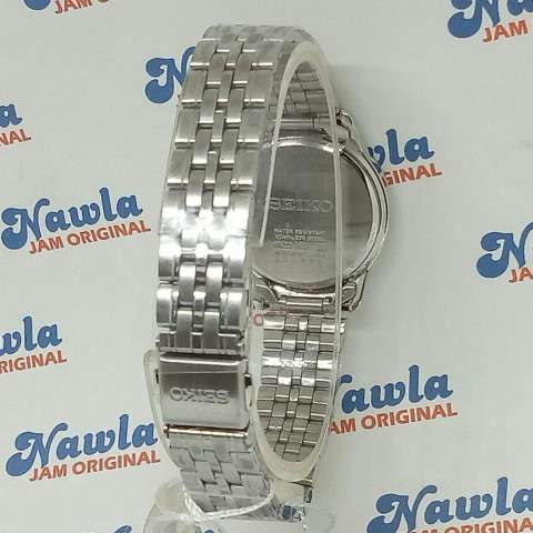 Seiko Ladies SUR741K1 Quartz Crystal On Bezel Jam Wanita SUR741