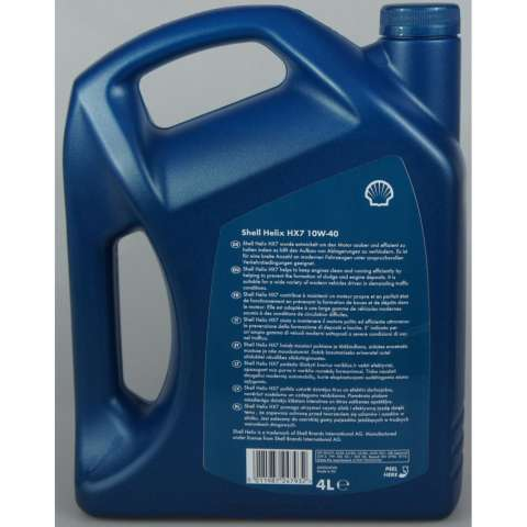 Shell Helix HX7 10W 40 Semi Synthetic 4 Liter