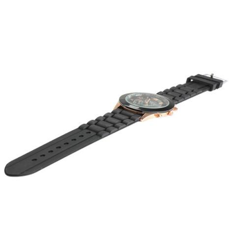 Silicone Jelly QUARTZ Sports Wrist Watch Unisex Bergaya Yang Tepat Hitam-Intl 4