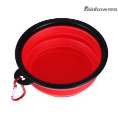 Silicone PET Portable Bowl Dilipat Folding Anjing Puppy Travel Pemberi Makanan-Intl