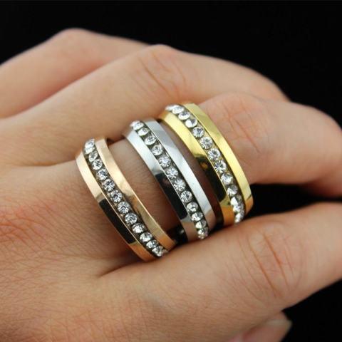 Fancyqube New Flash Mode Wanita Cincin Berlian Imitasi Berukir Lekukan Crown Cincin Ekor Betina Kualitas Tinggi Jewely Penurunan Pengapalan Perak - Page 4 ...
