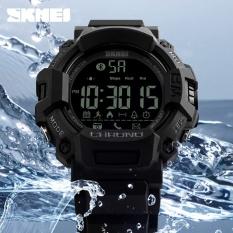 SKMEI Merek Fashion Pria Android Smart Pedometer Digital Olahraga Watches Remote Kamera Panggilan Pengingat LED Hibrida Smartwatch 1249-Intl