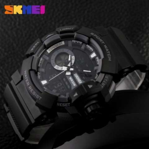 ... SKMEI Casio Dual Time Men Sport LED Watch Anti Air Water Resistant WR