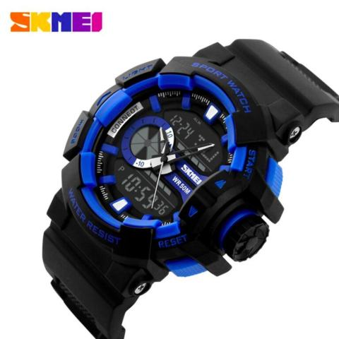SKMEI Casio Men Sport LED Watch Water Resistant 50m Jam Tangan Pria Casio Sport Pria AD1117