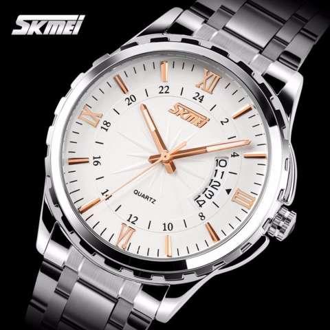 Home; SKMEI Casual Men Strap Watch 9069CS Water Resistant Anti Air WR 30m Jam Tangan
