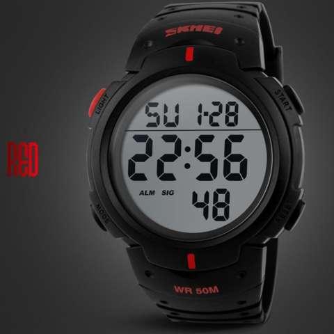 SKMEI DG1068 Jam Tangan Pria Digital Sport Cowok LED Water Resistant 50M  1068 Original - Merah 7d1a130626