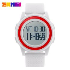 SKMEI Digital Sport Watch Water Resistant 50m DG1206 Jam Tangan Sport Day Date Night Light Stopwatch - Putih