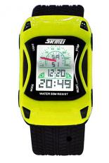 SKMEI  Ferrari Mobil LED Watch Anak ORIGINAL SKMEI Waterproof Anti Air - Kuning