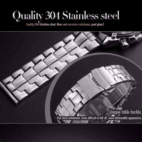 Expcni Jam Tangan Pria Strap Rubber Digital Expcni 611 Katalog Source · SKMEI Force Hitam Jam Tangan Pria Rantai Stainless Steel 1204 Elegant Black