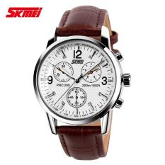 Skmei Jam Tangan Pria Kulit Asli Original Skmei 9070CL Casio Model Casual Anti Air