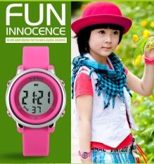 SKMEI  Merek Watch 1100 Children Menonton LED Digital Olahraga Relojes Mujer Boys Gadis Fashion Children Kartun Jelly Tahan Air Relogio Feminino-Intl