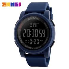 SKMEI  Merek Watch A Pria Olahraga Watches Double Time Countdown Militer Menonton 50 M Tahan Air Digital Jam Tangan Jam Blaus Masculino 1257-Intl