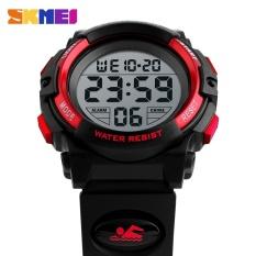 SKMEI  Merek Watch Anak Olahraga Jam Tangan Digital LED Shock Resistant 50 M Waterproof Alarm untuk Siswa Militer Watch PU 1266 -Intl