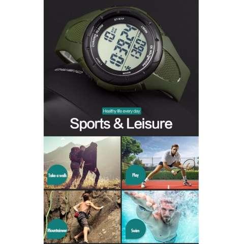 SKMEI Sport Pedometer Digital Running Watch DG1108S Water Resistant Anti Air WR 50m Jam Tangan Olahraga