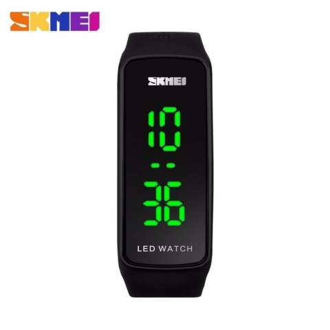 SKMEI Sport Rubber LED Watch 1119 Water Resistant Anti Air WR 50m Jam Tangan Olahraga Digital Tali Strap Karet Silicone Gym Lari Casual Gelang Modern Simpel ...