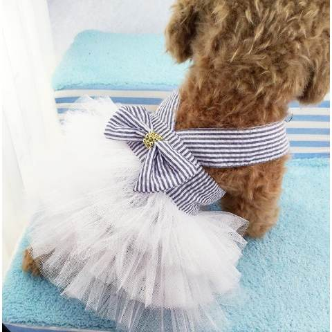 Kecil Anjing Peliharaan Gaun TUTU Rok Kucing Puppy Pakaian Lucu Pakaian Putri Pakaian L-Intl 2