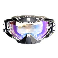 Snail Kacamata Cross (Goggles) MX36 Kaca Pelangi - Hitam/Putih