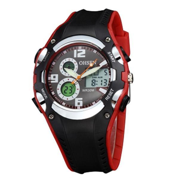 Memimpin Kuarsa Tanggal Alarm Jam Tangan Tahan Air Olahraga Jeruk. Source ·