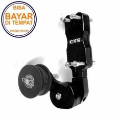 Stabilizer Rantai CNC Untuk Motor Sport Merk CVS Untuk Vixion Byson CB150R Mega Pro Verza Scorpio Tiger - Hitam