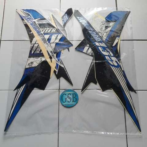 ... Stiker Striping Motor Yamaha Jupiter mx 2013 biru