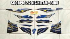 Striping Scorpio Z 2012 Hitam - Biru
