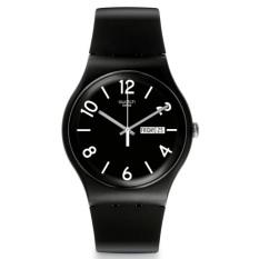 Swatch - Jam Tangan Pria - Hitam - Rubber Hitam - SUOB715