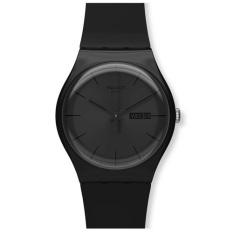 Swatch - Jam Tangan Pria - Hitam - Strap Rubber Hitam - SUOB702