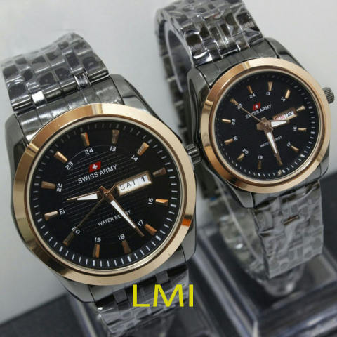 Swiss Army Couple - Stainless Steel -Black Gold- SA X-1422 BG