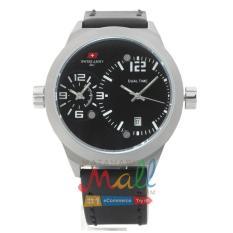 Swiss Army HCC-3068G Tali Kulit Hitam – Fitur Dua Waktu – Dial Hitam