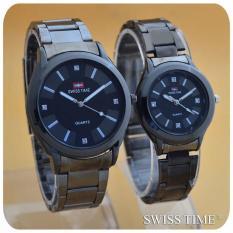 Swiss army/Swiss time Jam tangan couple atau berpasangan - strap stainless - SA7811