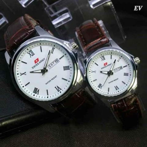 Swiss Army Jam Tangan Couple Stainless Strap Sa1101bs Daftar Harga Source · Swiss Army Jam Tangan Couple Leather strap SA2181