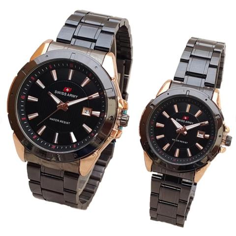 Swiss Army Jam Tangan Couple Rantai SA 654 - Rose Gold