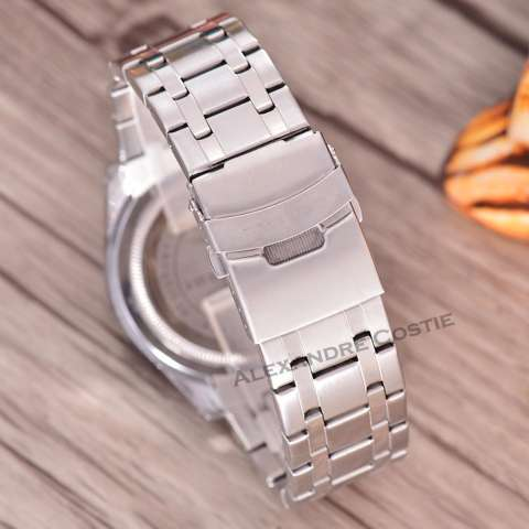 Swiss Army Jam Tangan Pria - Body Silver - White Dial - SA-RT-8839-TGL/HR-SW -Stainless Stell Band