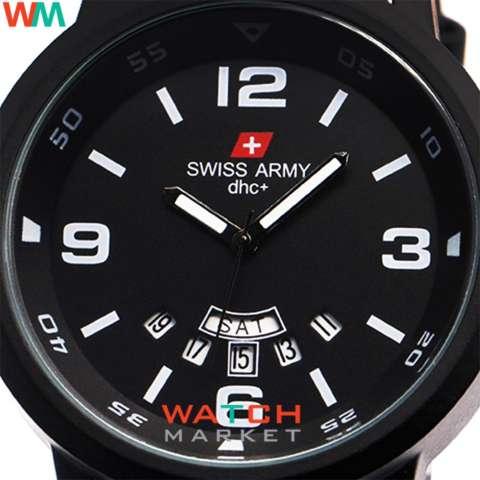 Swiss Army Jam Tangan Pria - Hitam - Strap Kulit - 1128 FB