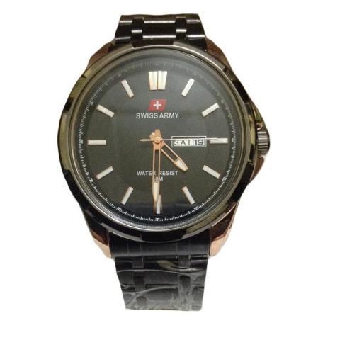 Swiss Army -Jam Tangan Pria - Stainless Steel - Black Gold - SA1575 BG