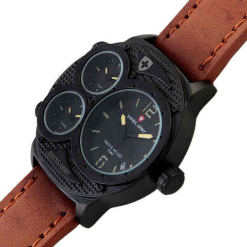 Swiss Army Triple Time Nightracer - Coklat Muda. Category : Jam Tangan .