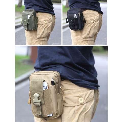 Universal Tas Pinggang Outdoor Tactical Smartphone Gesper Molle Edc ... b513a2d70d