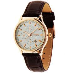 Tajima Analog Leather 3099 GA 03 Jam Tangan Pria - Putih