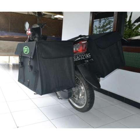 Tas Kargo Motor / Tas Kurir / Tas Ronjot / Tas Obrok / Saddle Bag Hitam