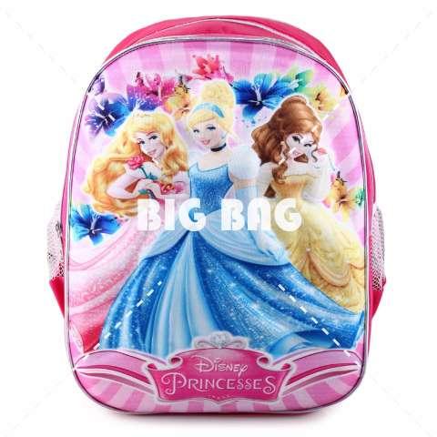 Tas Ransel Anak - Emboss - Princess - Sparkle Dresses - School Bag Tas Sekolah Anak