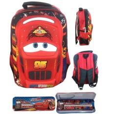 Tas Ransel Sekolah Anak SD Cars McQueen 3D Hard Cover Timbul S / Tas Sekolah Anak Laki Laki / Tas Ransel Anak Motif Cowok Pria / Kemping Anak