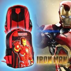 Tas Sekolah Ransel Anak TK SD Cowok Model 3D Motif Ironman