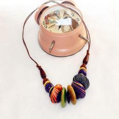 TERLARIS.Rugi kalau tidak memilikinya. Kalung Kayu Murah dari perajin yogya warna etnik kayu  15