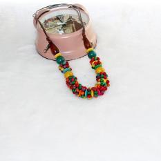 TERLARIS.Rugi kalau tidak memilikinya. Kalung Kayu Murah dari perajin yogya warna warni