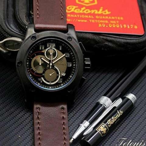 Tetonis Original TS4431 - Jam Tangan Pria – Chrono Aktif - Leather Strap