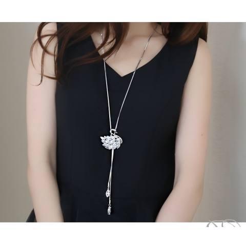 Euro Amerika Kelas Atas Kristal Gantung Sepotong untuk Menggantungkan Rantai Panjang Gaya Kalung Angsa Pergi Bersama dengan untuk Menghias Wanita Korea 100 Ambil untuk Menghias Sweter Rantai Dekorasi-Internasional 1