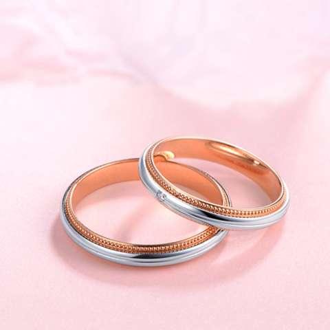 Tiaria 18K Love Miller Perhiasan Emas Berlian Cincin Pernikahan