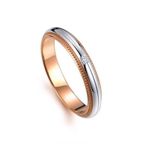 Home; Tiaria 18K Love Miller Perhiasan Emas Berlian Cincin Pernikahan